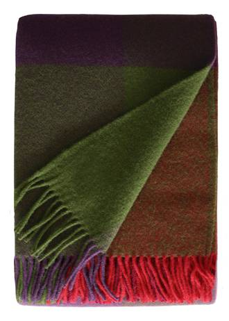 21237T Saskia Throw - Green/Red