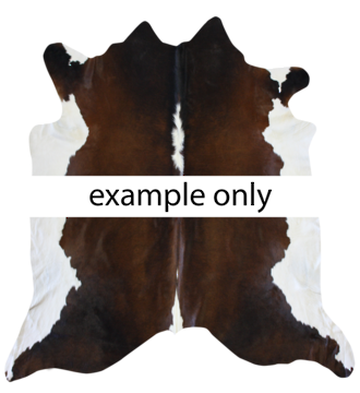 5115H Collezione Cow Hide - Campo - Chocolate-White