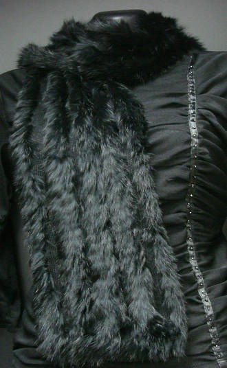 A1004 Rabbit Fur Scarf