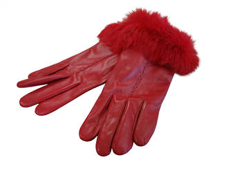 Rabbit Fur Trimmed - Red
