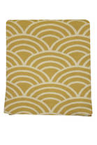 21373T Scallopo Throw - Gold/White