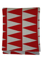21377T Impressa Throw - Red/Grey