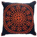 22292C Flourish - Navy-Burnt Orange