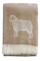 22361T Woolly Sheep Throw - Fawn