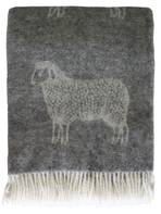 2260T Woolly Sheep Throw - Natural Grey