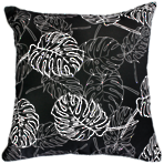 22660C Palm Leaves - Black