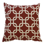 22956C Metro Linked Squares - Beige/Red