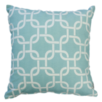 22957C Metro Linked Squares - Duck Egg Blue/White