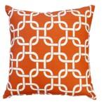22959C Metro Linked Squares - Orange/White