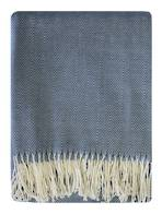 21803T Fernando Herringbone Throw - Blue