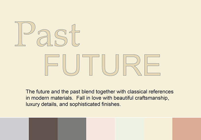 Past Future trend w colour