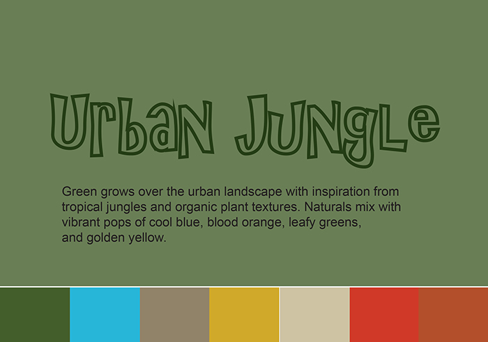 Urban Jungle trend w colour