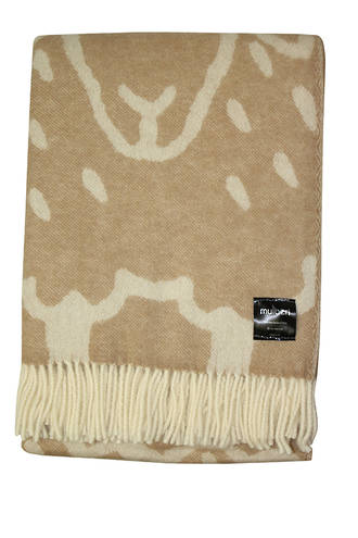 21194T Flock of Sheep Throw - Fawn