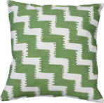 21487C Miami Zig-Zag Embroidered - Green/White