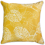 22664C Palm Leaves - Golden Yellow